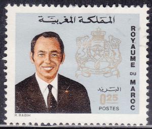 Morocco 281 USED 1973 King Hassan II, Coat of Arms