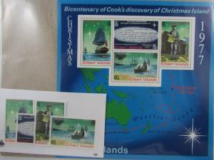 1977 Gilbert Islands SC #300-303a BICENTENARY COOK'S DISCOVERY XMAS ISLAND MNH