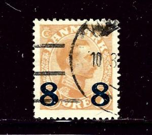 Denmark 161 Used 1921 surcharge