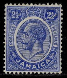 JAMAICA GV SG61a, 2½d deep brt blue, M MINT.