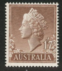 Australia  Scott 301 MNH** 1957 QE2 stamp CV$4.50