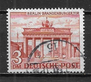 Germany Berlin 9N59 3m Brandenburg Gate single Used (z3)