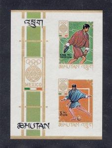 Bhutan MNH S/S 97h Summer Olympics Mexico SCV 2.50