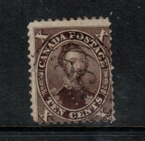 Canada #16i Used Fine Rare Chocolate Brown **With Certificate**