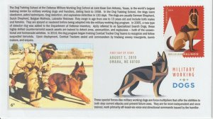 6° Cachets 5407 Military Working Dogs w/ DCP and Belgian Malinois red stamp