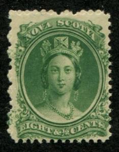 Nova Scotia SC# 11 Victoria 8c on yellowish paper MH