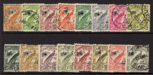 NEW GUINEA SG190/203 1932-4 AIR MAIL SET USED