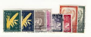 United Nations, 23-30, 1954 Year Set, USED Singles