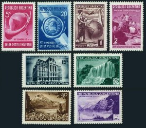Argentina 459-466,hinged.Michel 438-445. UPU 11th Congress,1939.Landscapes.