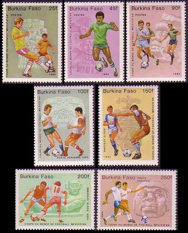 Burkina Faso World Cup Football Championship Mexico 7v SG#756-762 MI#988-994