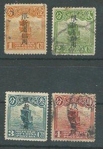 China Sinkiang 2-5   used 1915 PD