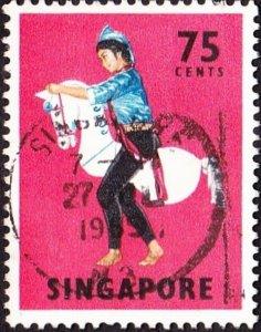 SINGAPORE 1968 75c Multicoloured SG111 FU