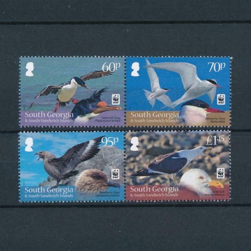 [107731] South Georgia 2012 Birds vögel oiseaux WWF 2 pairs MNH