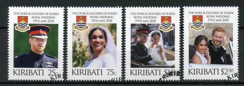 Royal Wedding Cancelled.Kiribati 2018 Cto Prince Harry Meghan Royal Wedding 4v Set Royalty