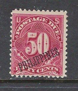Philippines J5 MH 1899 overprint on U.S. Postage Due
