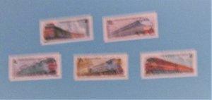 Russia - 5044-48, MNH Set. Locomotives. SCV - $2.80