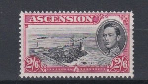 ASCENSION  1938  S G 45  2/6D  BLACK  &  CARMINE  PERF 131/2 MNH