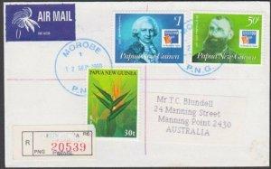 PAPUA NEW GUINEA 2000 Registered cover ex MOROBE............................M726