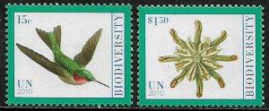 United Nations #1017-8 MNH Set - Year of Biodiversity