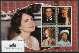 Grenada 2014 MNH Downton Abbey Earl Countess Grantham 4v M/S TV Series Stamps
