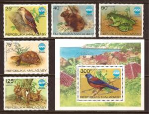 Malagasy  Republic  # 532 - 35  and C 145 - 46  used   CTO