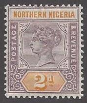 Northern Nigeria #3 mint, Queen Victoria, issued 1900
