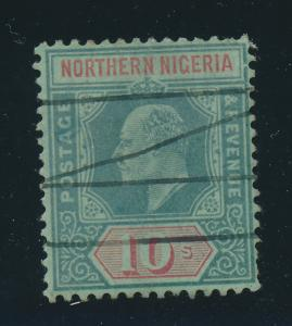 Northern Nigeria Stamp Scott #38, Used, 10Sh Edward VII - Free U.S. Shipping,...