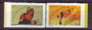 J20470 Jlstamps 2004 france set mnh #2995-6 its a boy,its a girl