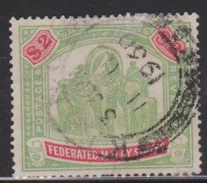 Malaya Federated Malay States Sc#74 Used