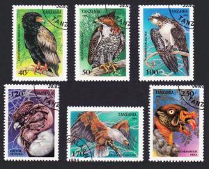 Tanzania Birds of Prey 6v CTO SG#1847-1852 SC#1279-1284 MI#1854-1859