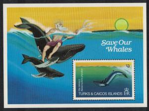 Turks and Caicos Whales MS SG#MS753