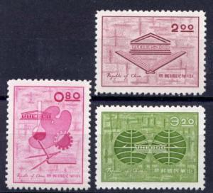 ROC -Taiwan SC#1352-1354 UNESCO 1962 MNH