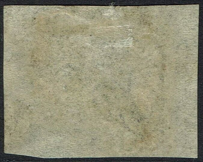 WESTERN AUSTRALIA 1857 SWAN LITHOGRAPHED 6D IMPERF USED