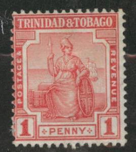 Trinidad & Tobago Scott 2 MH* stamp CA wmk 3