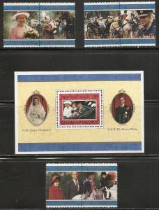 Falkland Islands 679-85 1997 Elizabeth 50th Wedding set a...