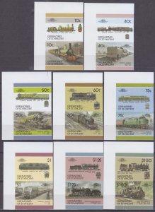 1987 Grenadines St vincent 527-541bPaar Locomotives 25,00 €