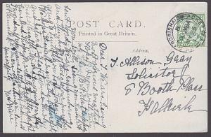 GB SCOTLAND 1912 postcard GK & ARDRISHAIG PACKET / COLUMBA mail boat cds....6429