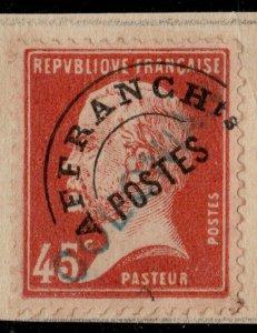 FRANCE Préo 67 45c Pasteur Surch. COLONIAS Spécimen UPU (Col. Portugaise de Goa)