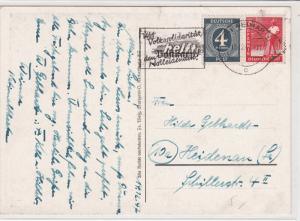 Germany 1947 Helft Machine Slogan monument Memorial Pic Stamps Card ref R 19301