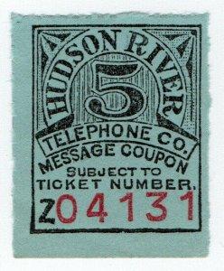 (I.B) USA Telegraphs : Hudson River Telephone Co 5c