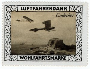 (I.B) Germany Cinderella : Pilot's Charity Stamp (Monoplane)