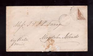 Canada #39a Very Fine Used Bisect To Magdalen Islands **With Certificate**