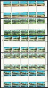 Kiribati Captain Cook Hotel Aircraft Archives Development 5v Full Gutter Strips
