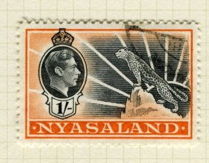 NYASALAND; 1938 early GVI issue fine used 1s. value