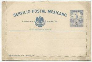 MEXICO 5c lettercard 1897 unused ..........................................58742