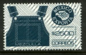 MEXICO Exporta 1601 $2500P Overalls w/Burelage Paper 10 MINT, NH. VF.