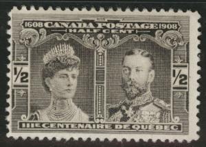 CANADA Scott 96 MH* 1908 Quebec Issue