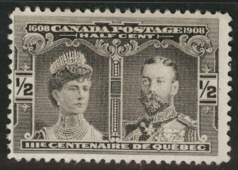 CANADA Scott 96 MH* 1908 Quebec Issue