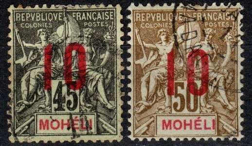 Moheli #21-2 F-VF Used CV $6.50 (X5376)