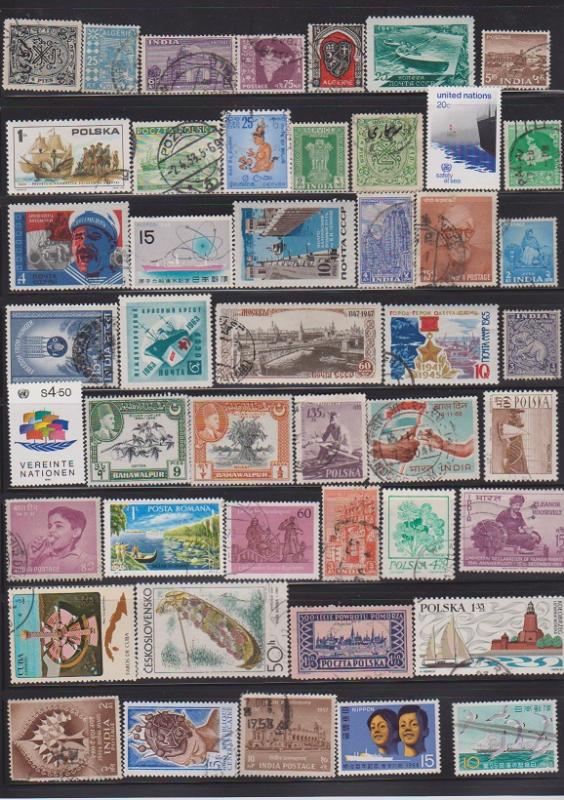 LOT OF DIFFERENT STAMPS OF THE WORLD USED (46) LOT#150